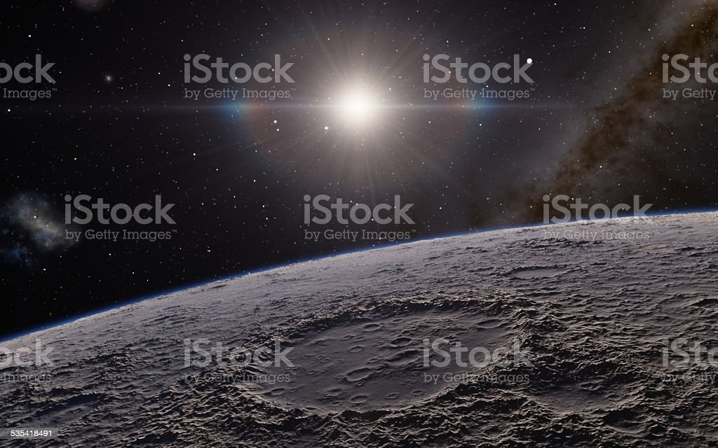 Moon and space stock photo
