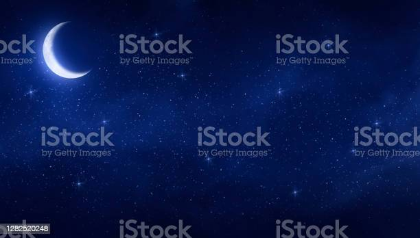 Photo of Moon and starry night
