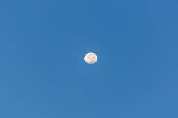 Moon at day stock photo