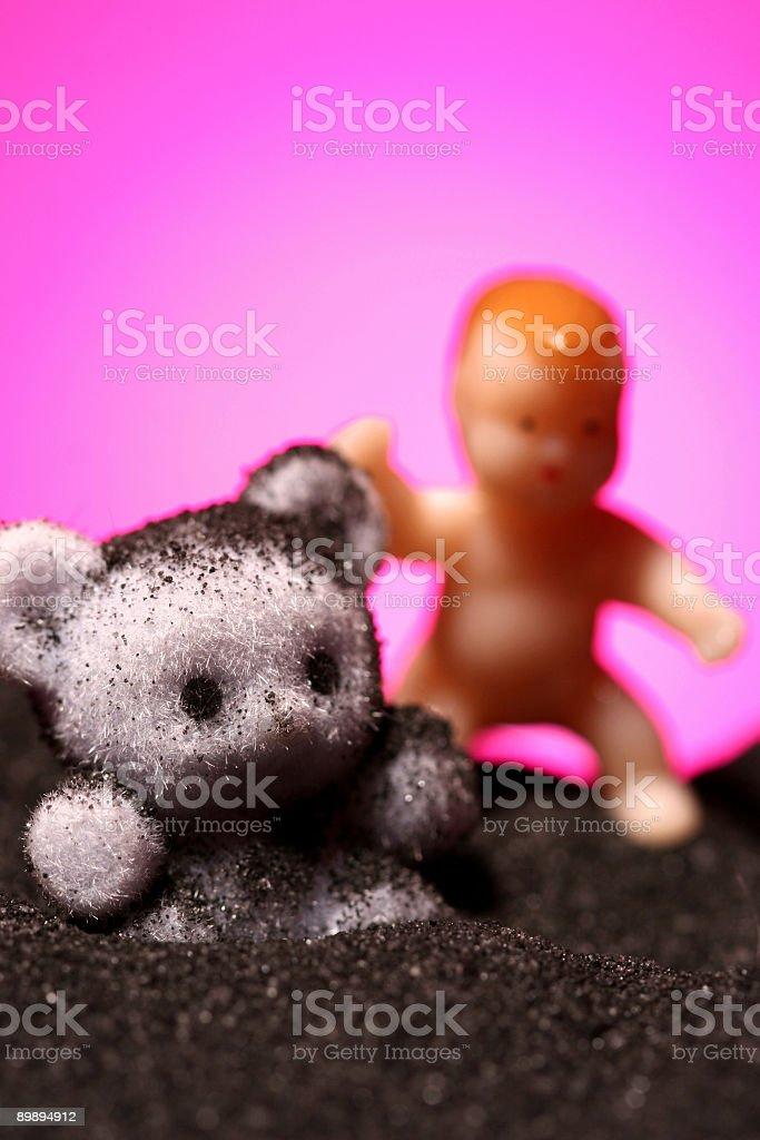 Луна Окружающая младенцев Стоковые фото Стоковая фотография