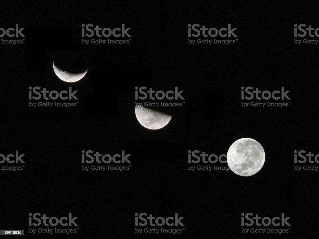 Moon Composite stock photo