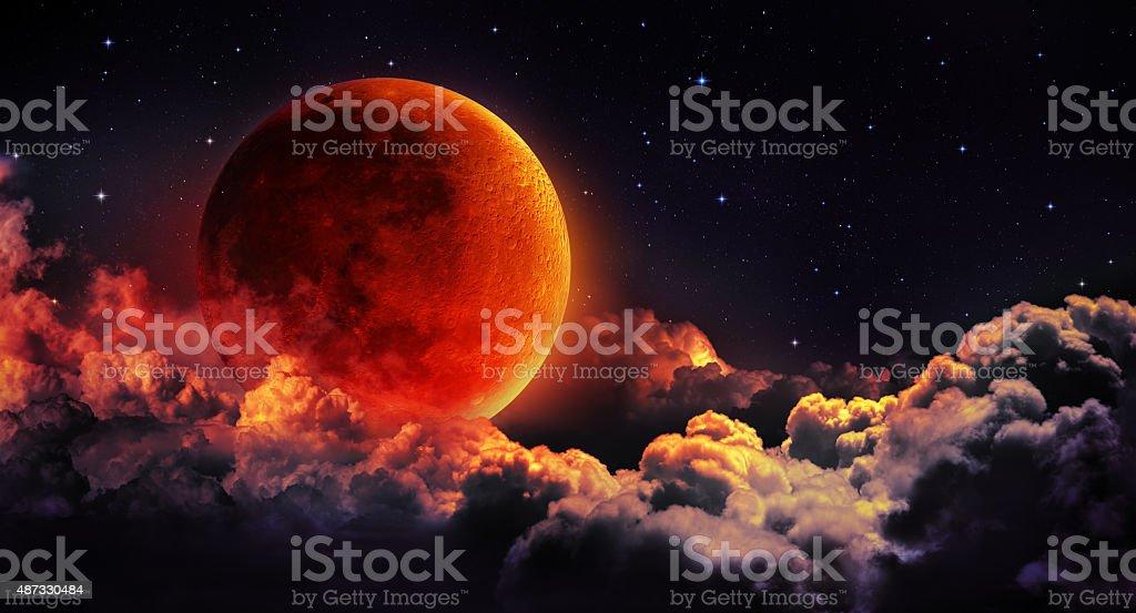 moon eclipse stock photo