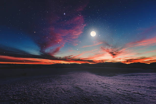 moon gazing ii - desert stock pictures, royalty-free photos & images