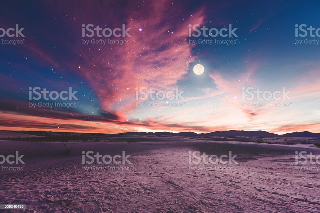 Moon gazing stock photo