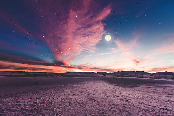 Moon gazing stock photo