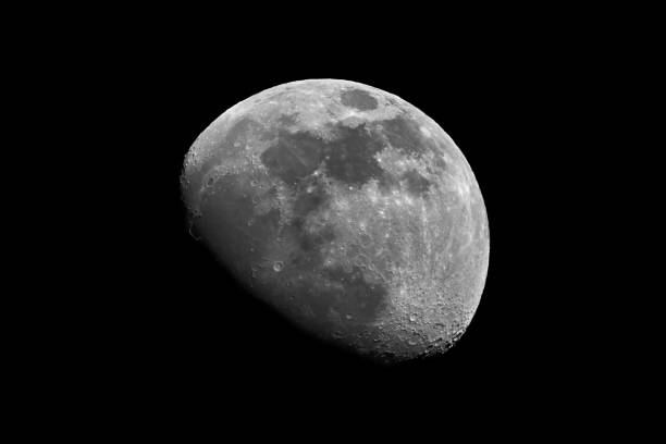 moon in black and white - moon stock pictures, royalty-free photos & images