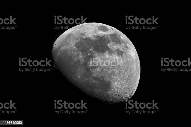 Photo of Moon in black and white