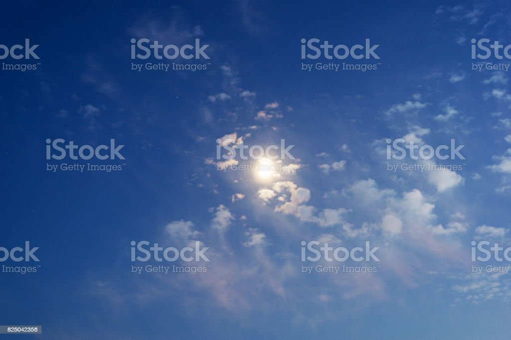 Moon In The Clouds stock photo