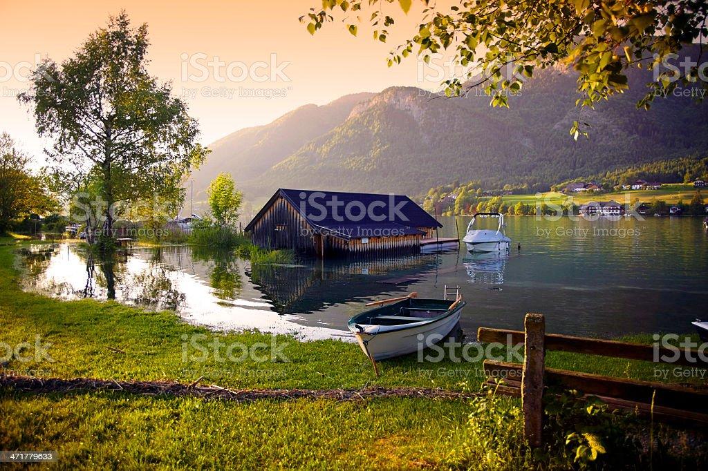 Moon lake in Tirol, Austria royalty-free stock photo