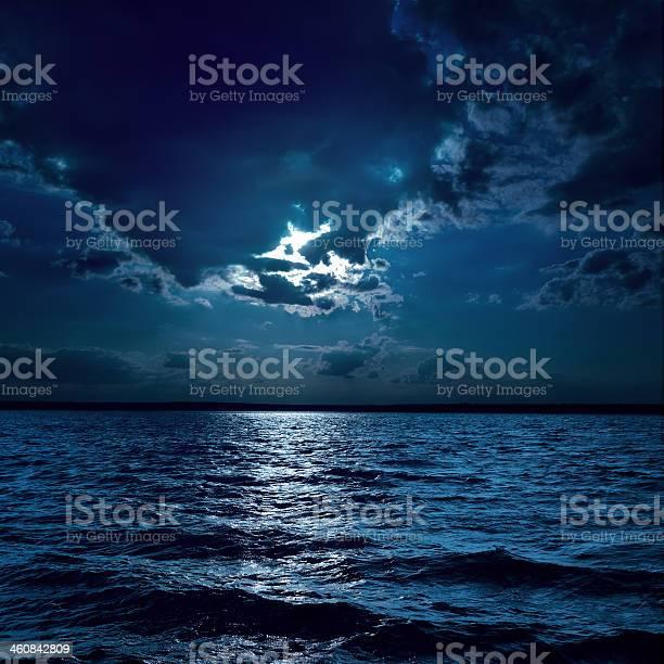 Photo of moon light over darken water