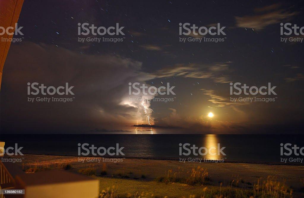 Moon Lightning stock photo