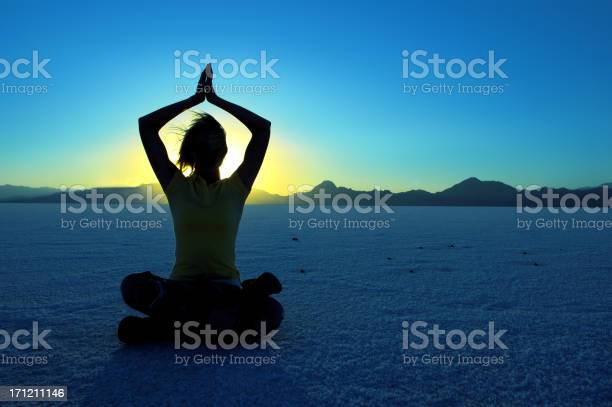 Moon Meditation Stock Photo - Download Image Now