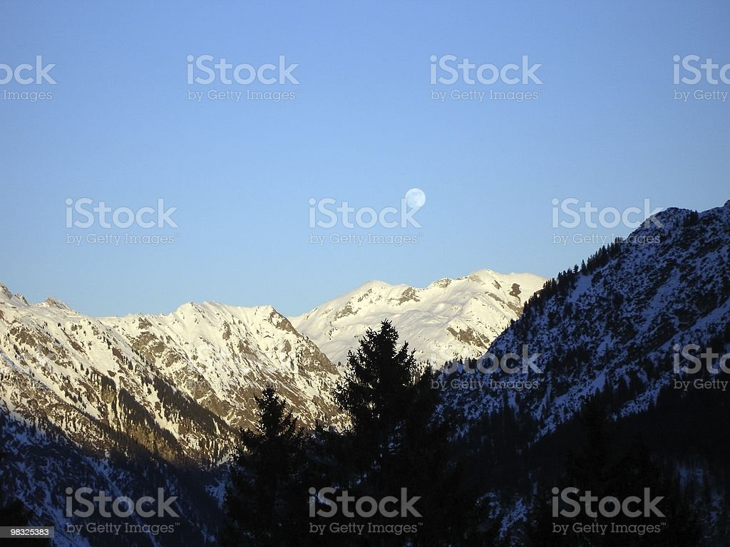 moon mountain royalty-free stock photo