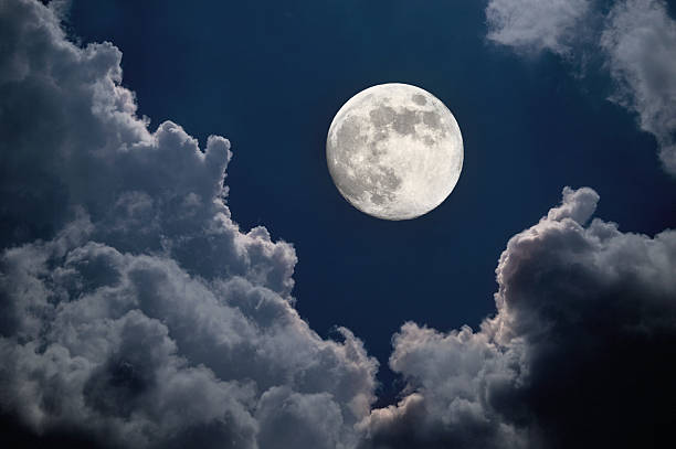 moon night - moon stock pictures, royalty-free photos & images