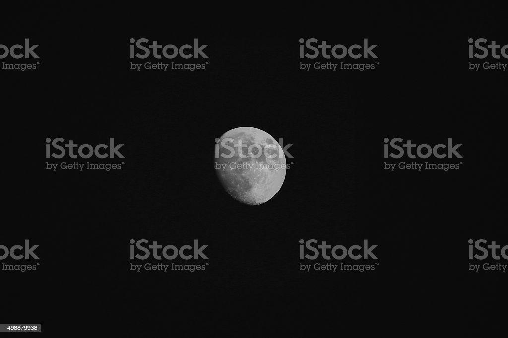 Moon - not quite full stock photo