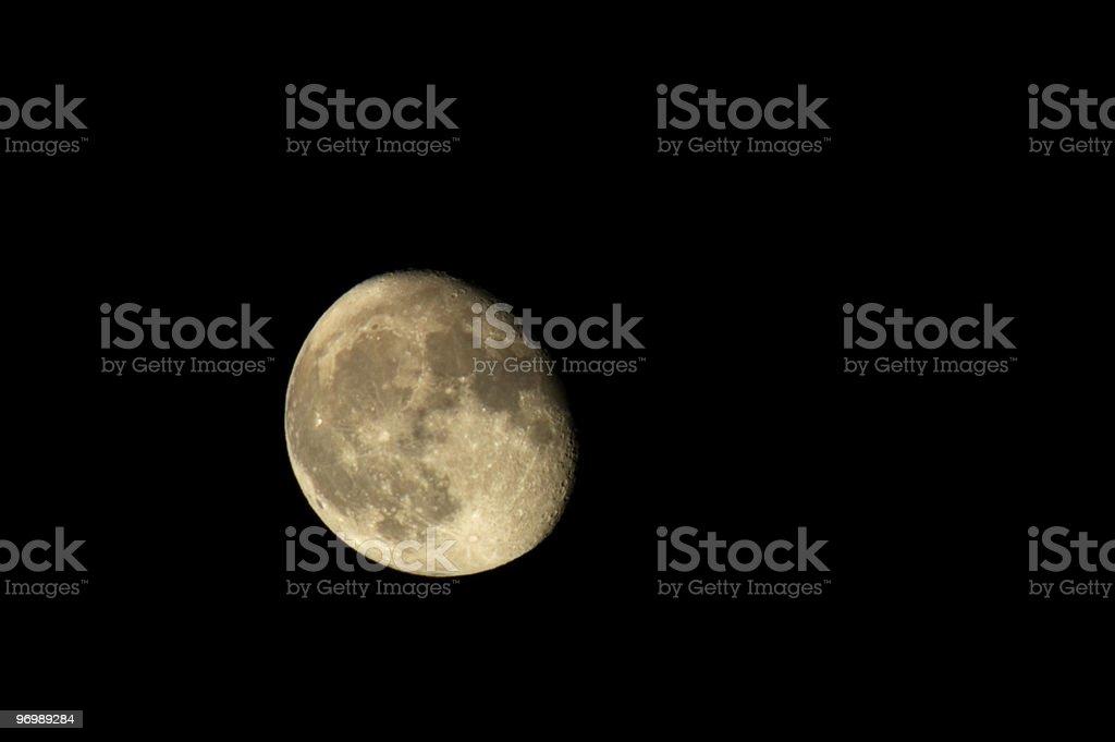 Moon on black royalty-free stock photo