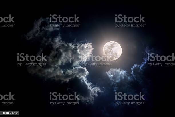 Photo of Moon on Cloudy day