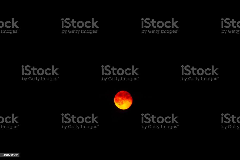 Moon - orange color stock photo