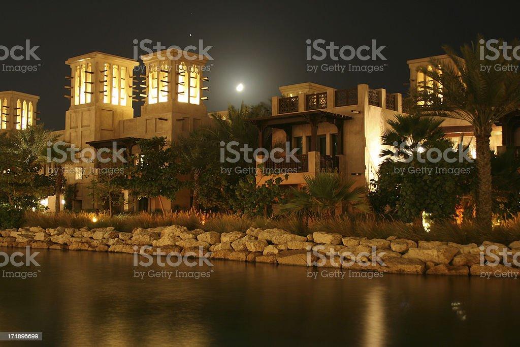 moon over Dubai royalty-free stock photo