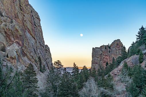 Moon Over Eldorado Canyon State Park