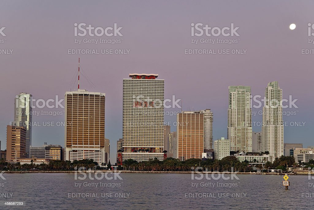 Moon over Miami stock photo
