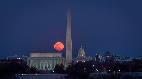 Moon Over Monuments