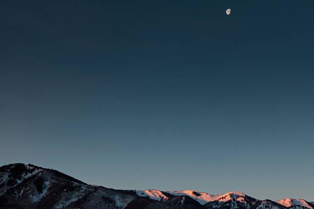 Lune sur la chaîne de Wasatch - Photo