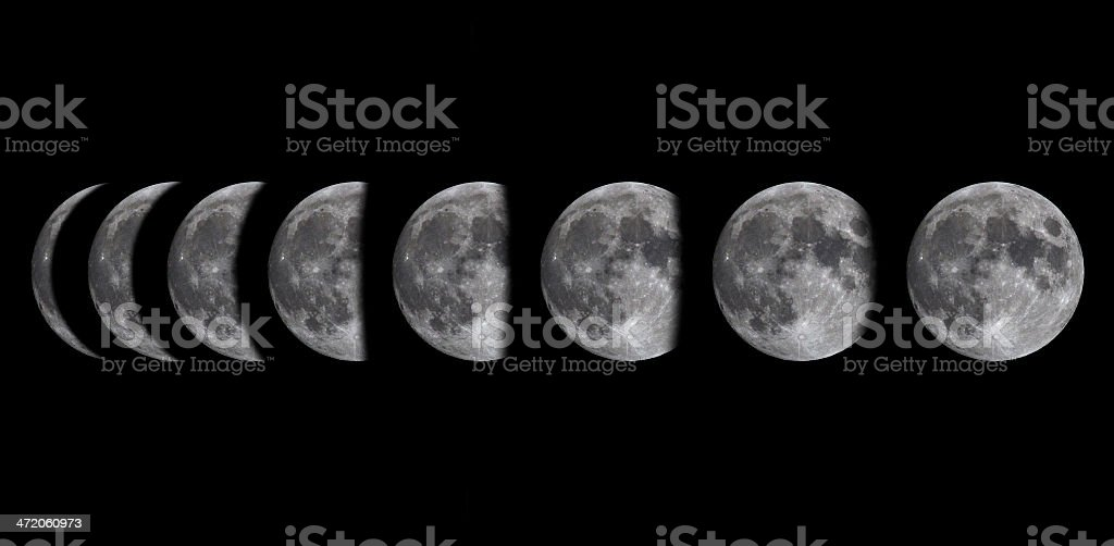 Moon phases stock photo