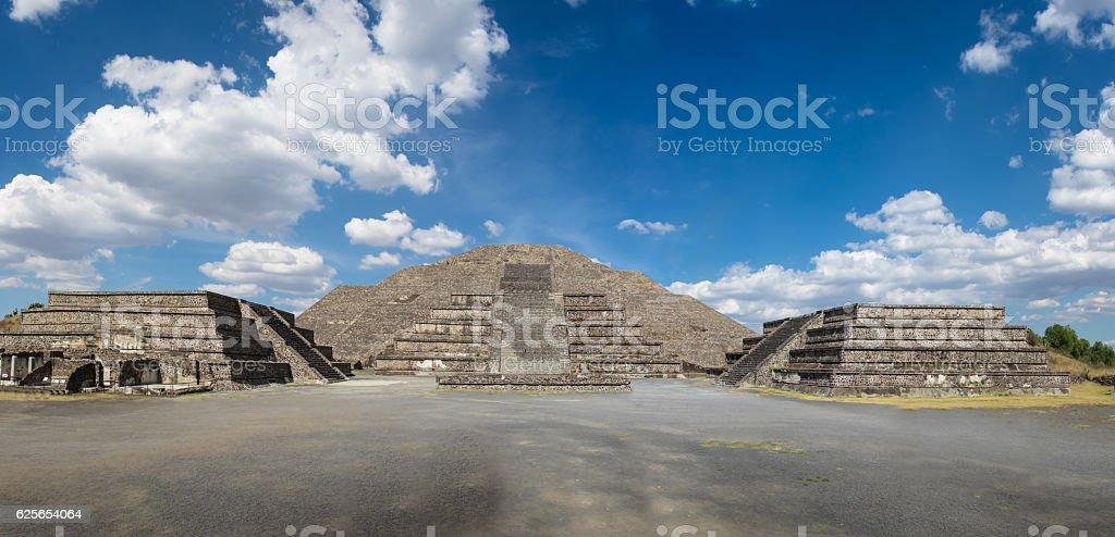 Moon Pyramid at Teotihuacan Ruins - Mexico City, Mexico stock photo