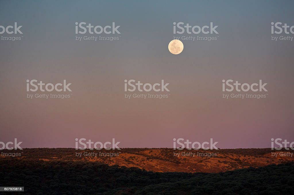 Moon rise stock photo