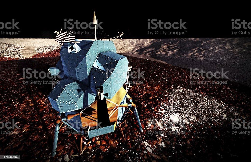 Moon rover on alien planet stock photo