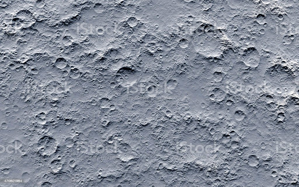 Moon surface stock photo