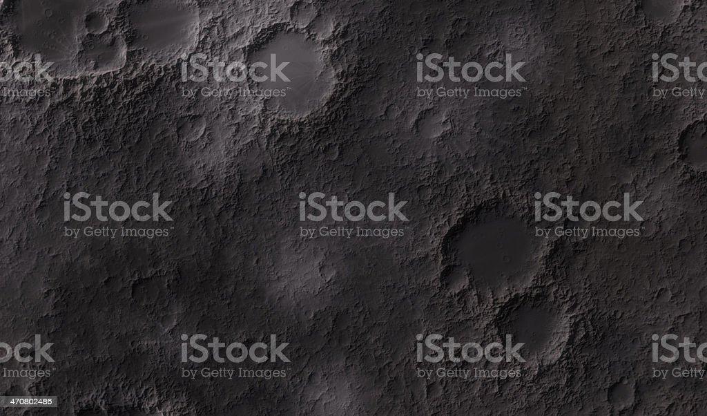 Closeup of moon surface texture