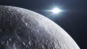 Moon surface seen from space.