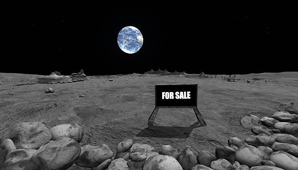 Mondoberfläche mit Erde – Foto