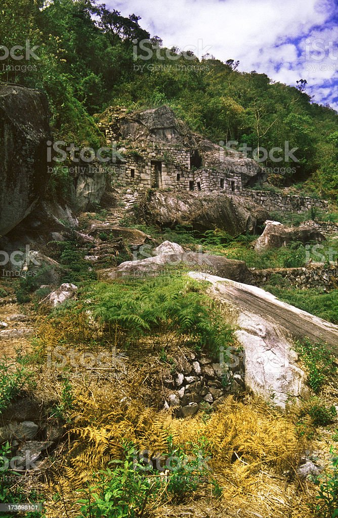 Moon Temple in Machu Picchu royalty-free stock photo