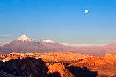 View on Valle de la muerte by San Pedro de Atacama in Chile