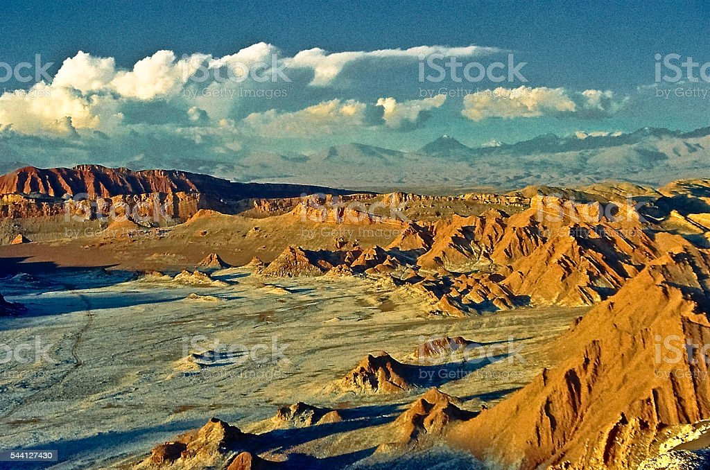 Moon Valley, Atacama Desert, Chile stock photo