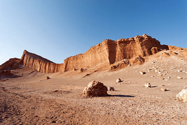 Moon Valley Atacama stock photo