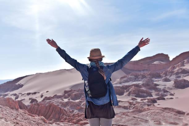 Moon Valley in Atacama,Chile stock photo