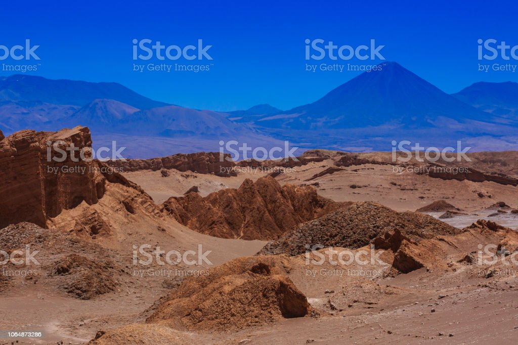 Moon Valley in Chile stock photo