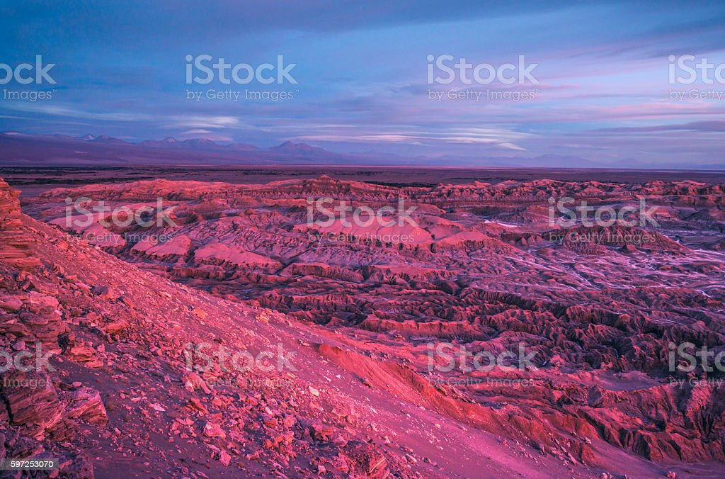 Moon Valley in Pink stock photo