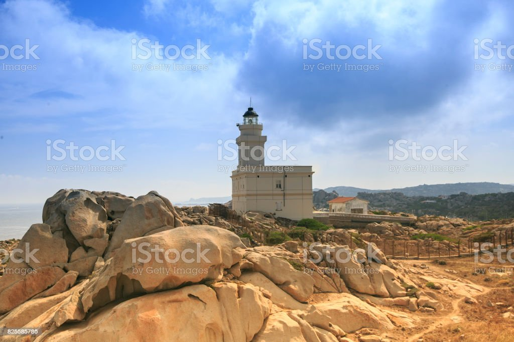 Moon valley  in Sardinia island , Italy stock photo