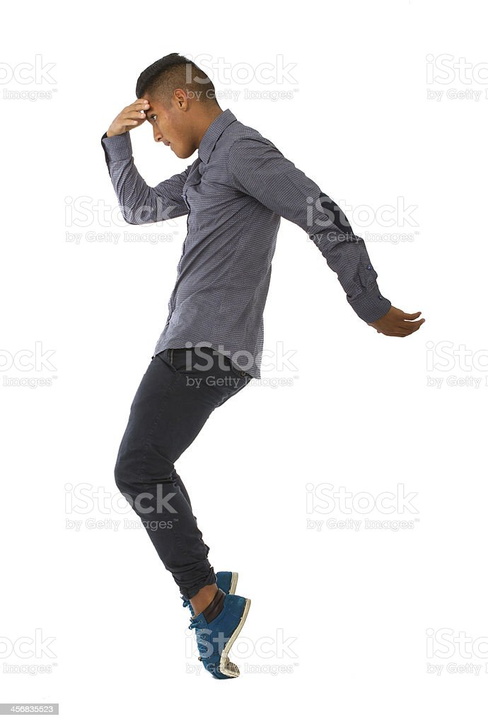 moon walker dancing stock photo
