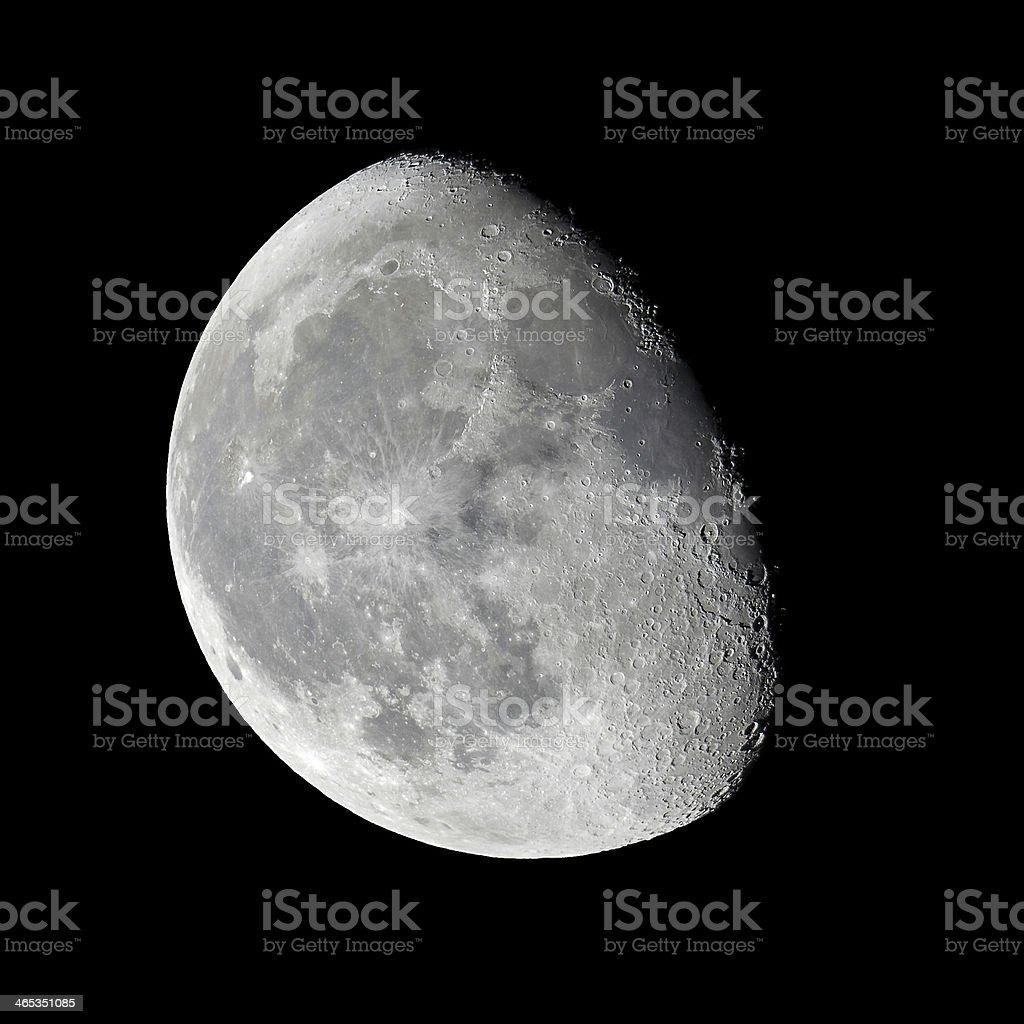 Moon - waning gibbous stock photo