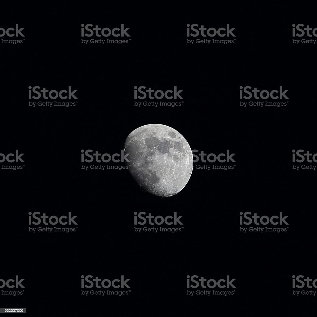 Moon waxing gibbous spring May stock photo