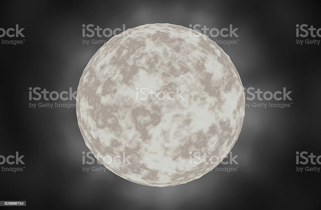 Moon white stars in the space. stock photo