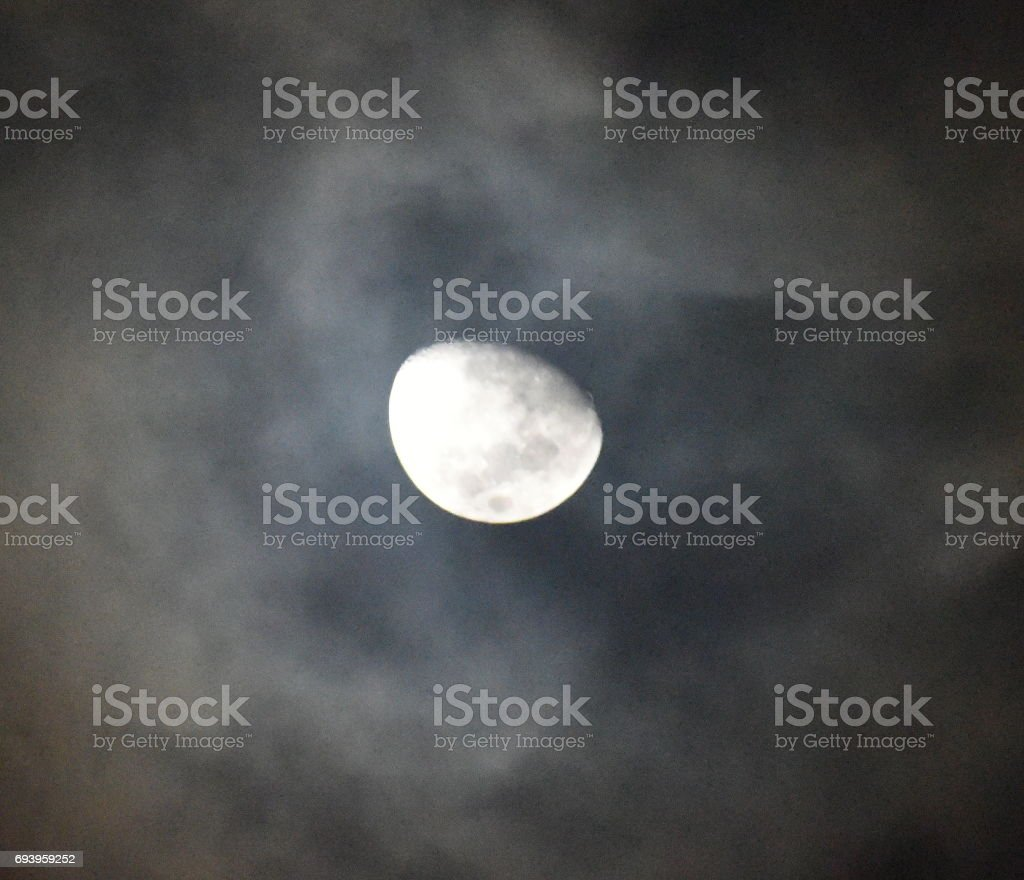 Moon with clouds stock photo