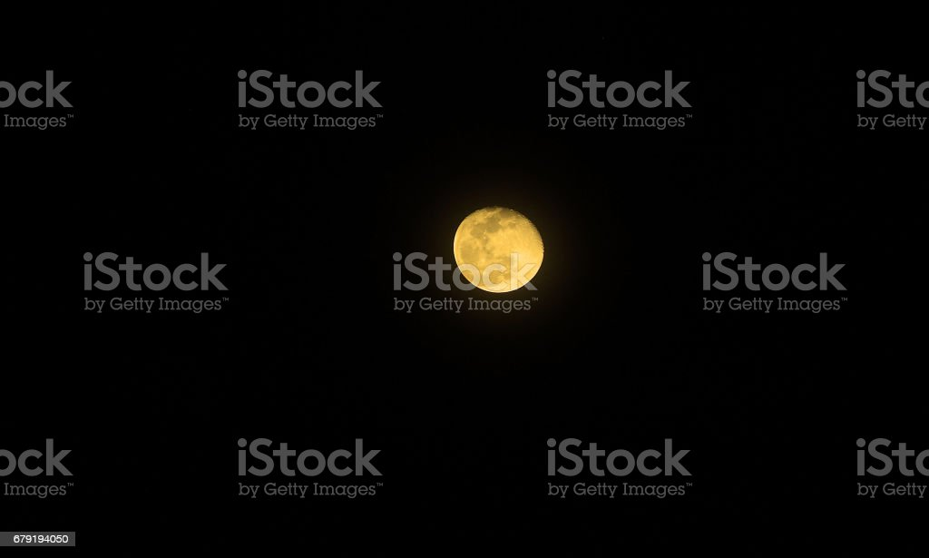 Moon with color on the dark sky at night foto de stock royalty-free