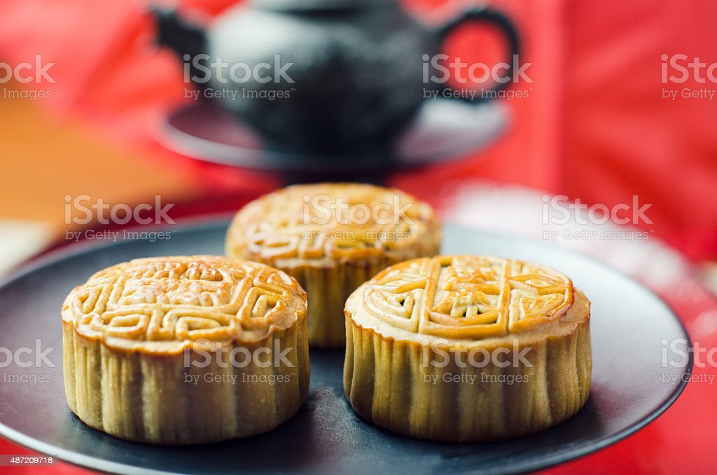 Mooncake - Chinese tradition stock photo
